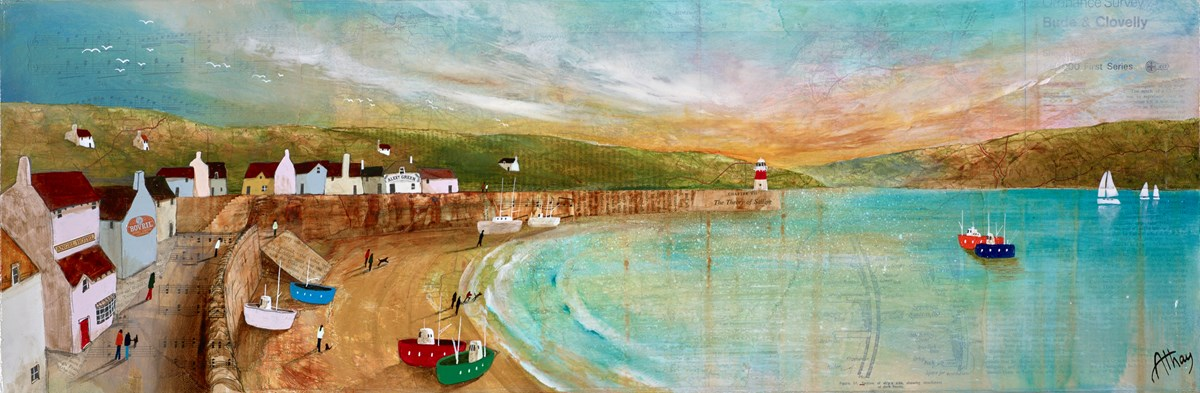 The Theory of Sailing by keith athay -  sized 35x12 inches. Available from Whitewall Galleries